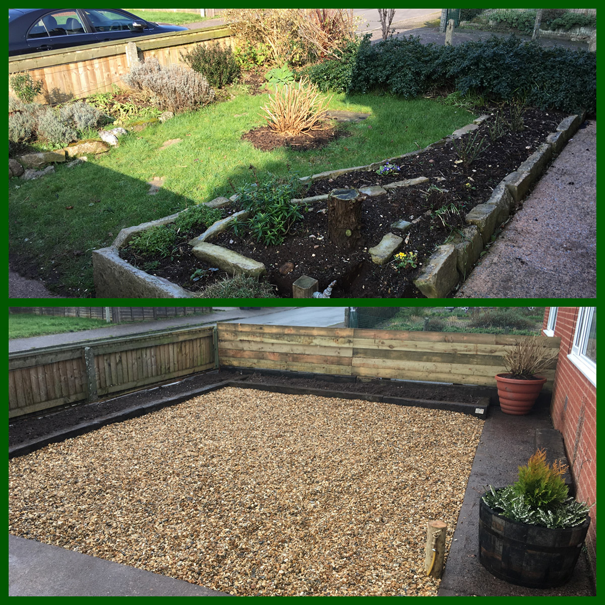 Garden makeover green hands gardening service for Garden service